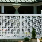 Biela zahradna zastena - pevna