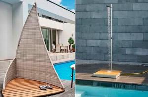 Moderná záhradná sprcha