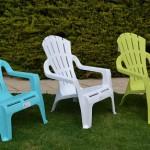 Plastové stoličky do záhrady