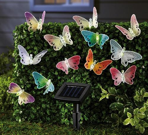 Záhradná dekorácia - solárne motýle