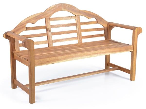 Drevená záhradná lavička