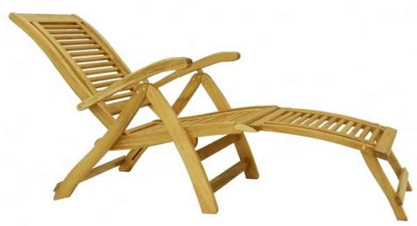 Lacné drevené lehátko