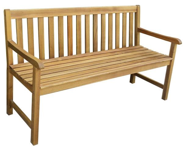 Pevná záhradná lavička