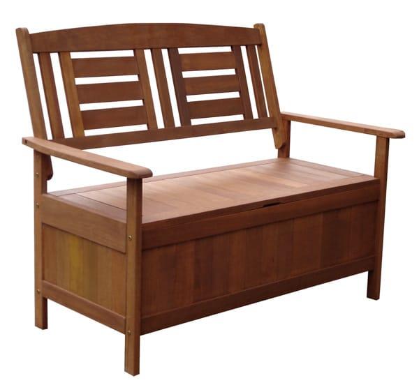 Záhradná lavička s úložným priestorom