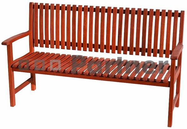Záhradná lavička z exotickej dreviny